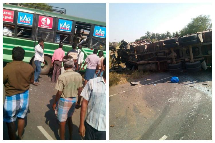 Several dead in severe accident as state bus hits lorry in Madurai