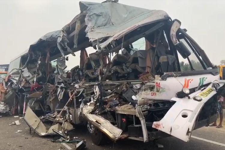 Bengaluru-Kochi KSRTC bus meets with accident in TN 19 people dead