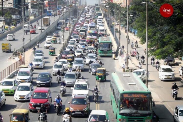 Busy ORR in Bengaluru