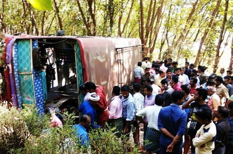 Bus crashes into wall in Palakkad One person killed 20 injured