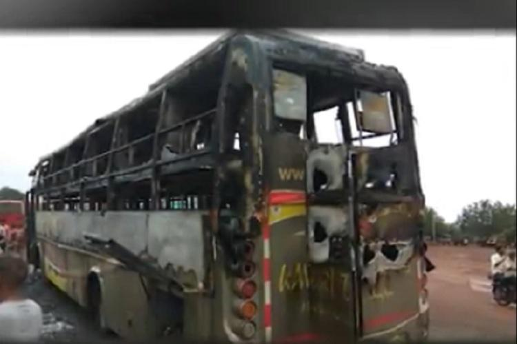 Three-year-old child burnt alive on bus in Karnataka after battery short-circuits