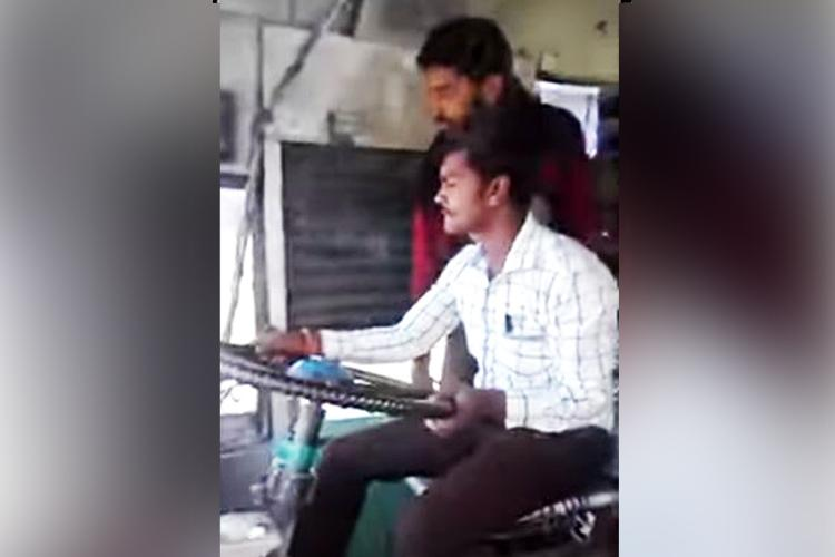 Watch Shocking video of temporary bus driver in TN letting his friend take the wheel