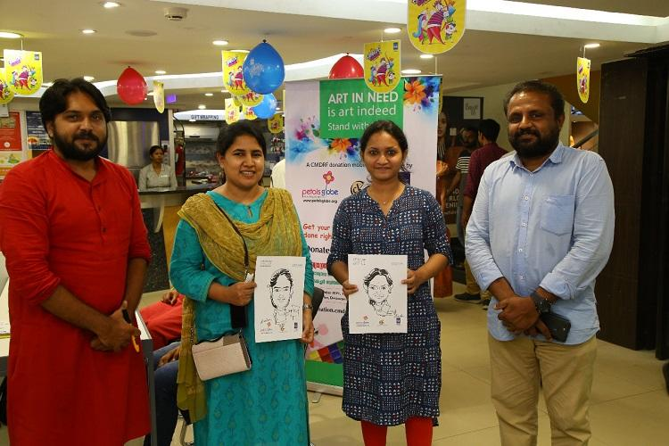 Kerala cartoonists conduct caricature shows to raise funds for CMs relief fund