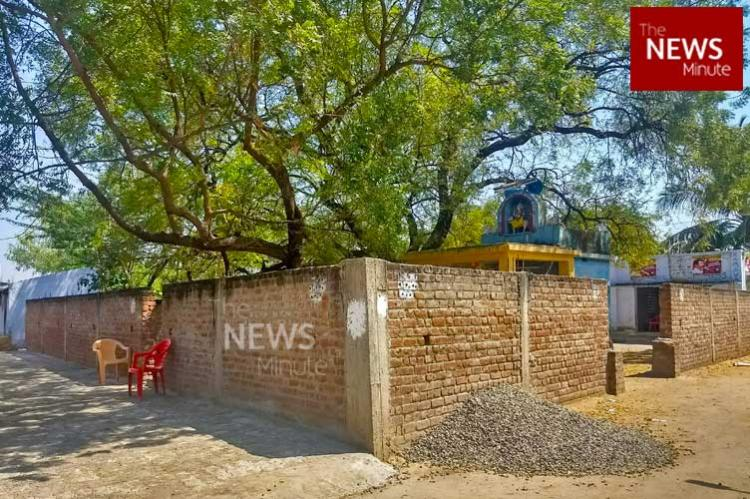The Six Foot High, 50 Foot Long Wall In Santhaiyur Village Can Easily Pass  You By If Not For The Five Policemen Standing Guard Round The Clock At  Indira ...