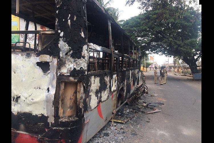Cauvery violence Ktaka Rakshana Vedike man arrested for instigation 12 others held