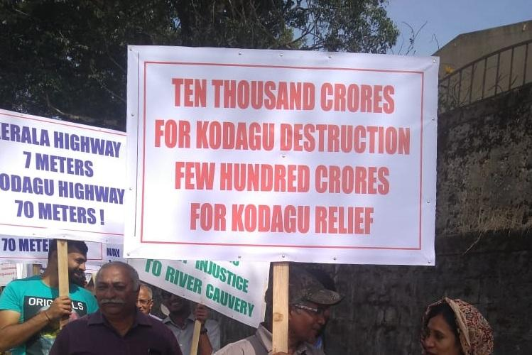 Save Kodagu Save Cauvery 500 environmentalists protest highway project