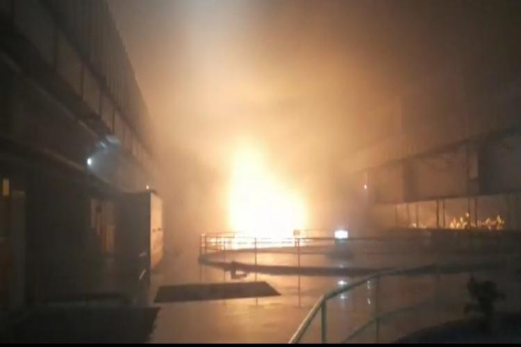 Major fire broke out in a huge power plant in Srisailam of Telangana