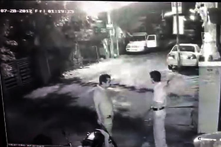CCTV footage shows CPIM attacking BJP office 3 cops run and hide as one tries to stop goons