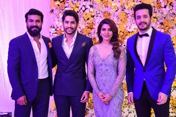 Naga Chaitanya Samantha Hold Star Studded Wedding Reception In