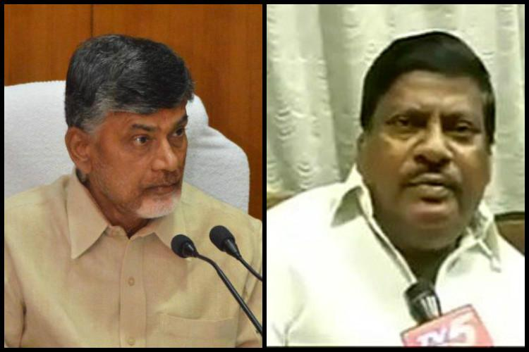 TDP MP revolts against Andhra CM over representation of SCSTs in cabinet Naidu hits back