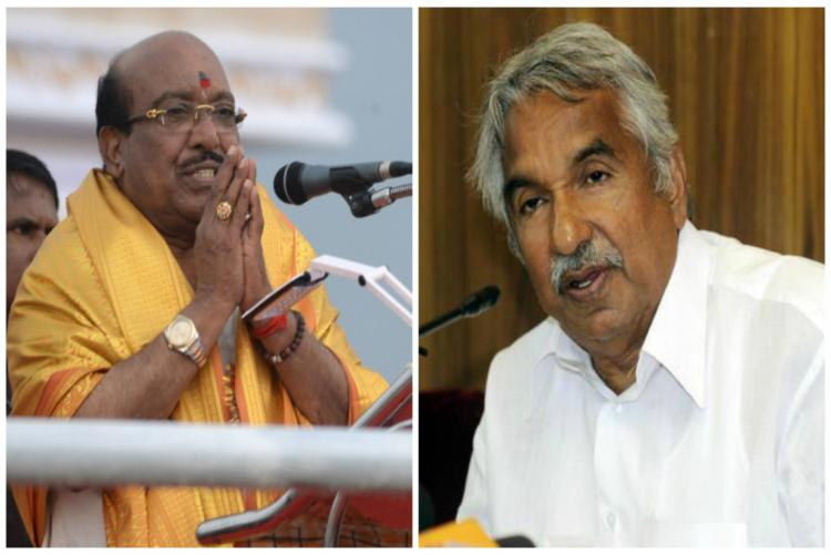 Natesan withdrew invitation to Chandy for SNDP event reportedly under BJP pressure