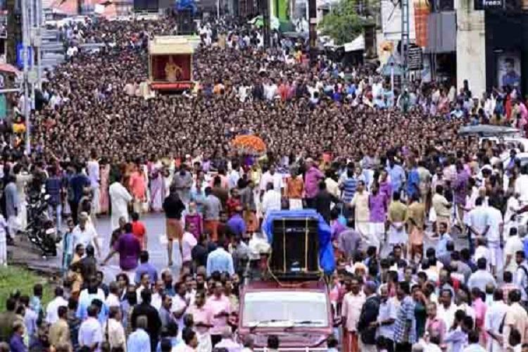 SC Sabarimala verdict Thousands take part in protests across Kerala