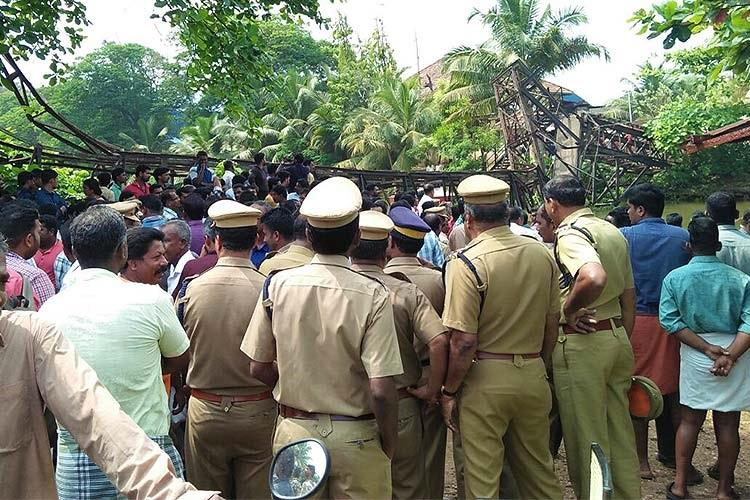Kerala bridge collapse One dead nearly 20 injured in Chavara