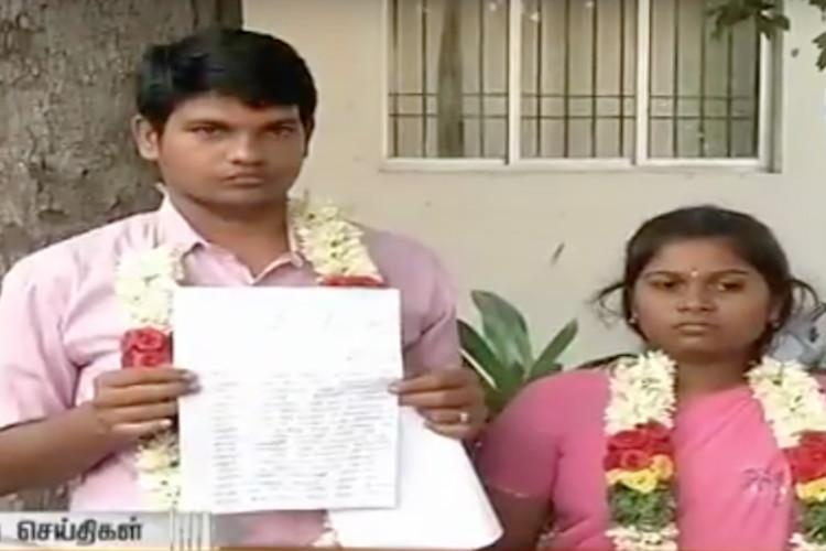 Newly-married inter-caste couple in Chennai face death threats seek police protection