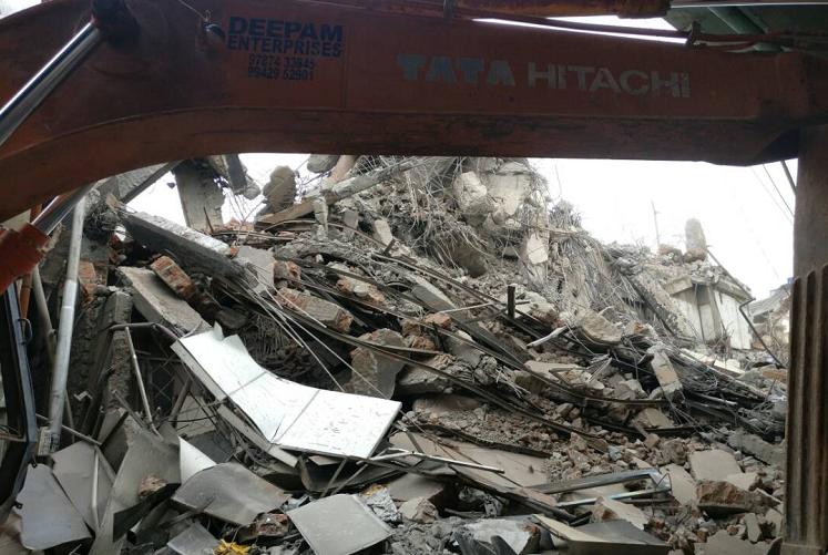 17 days after deadline Chennai Silks building finally demolished