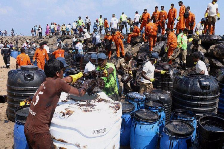 Politics is heating up in Chennai but heres an update on the oil spill you should read