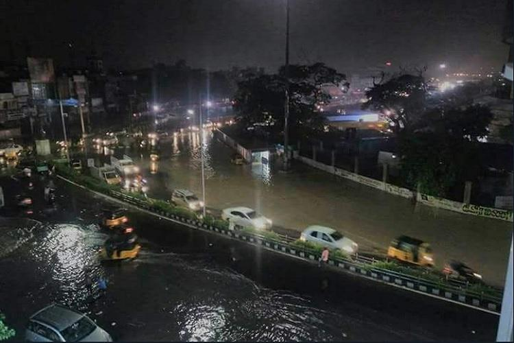 Monsoon fury hits Chennai Pvt firms asked to declare holiday several areas waterlogged