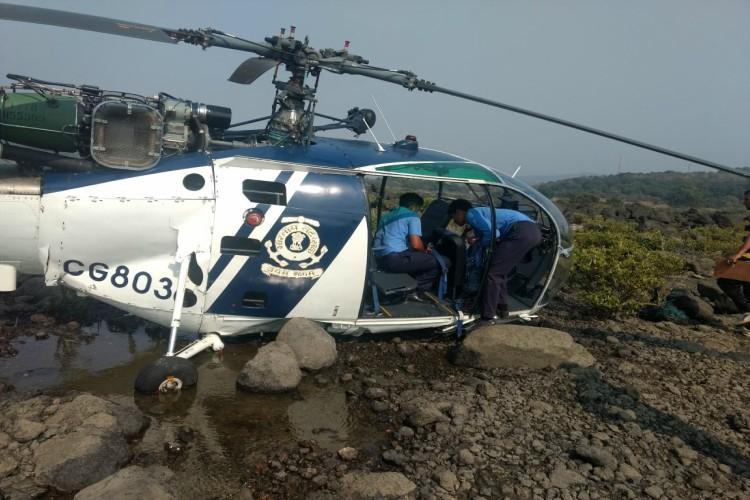 Indian Coast Guard chopper crash-lands near Mumbai all crew members safe