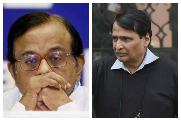 Chidambaram Suresh Prabhu file nomination papers for Rajya Sabha