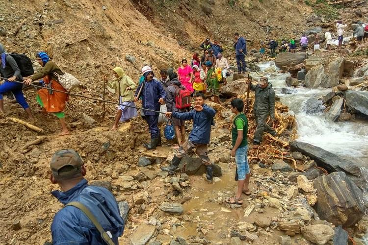 Karnataka rains 70 people trapped for 2 days in coffee estate due to landslide rescued