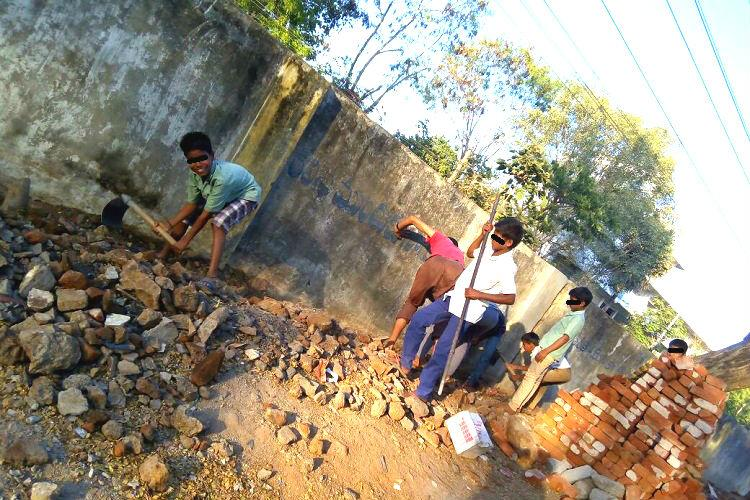 From students to child labourers Telangana headmaster forces kids to demolish wall after class