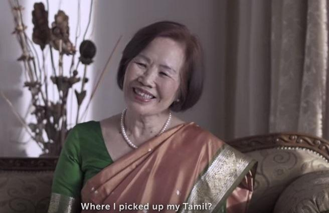 Listen to this Chinese paati teach you how to draw a kolam