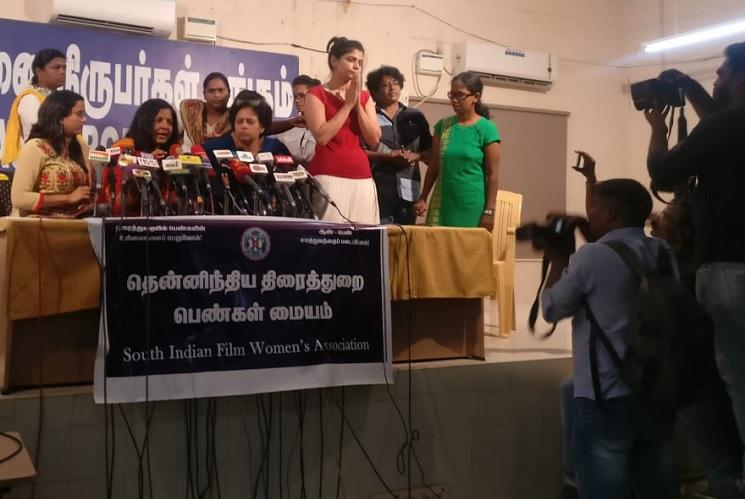 How did he torture you Media apathy at Me Too presser by Tamil film industry women