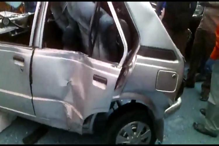 Pregnant woman and her two kids injured as luxury car rams parked vehicle in Coimbatore
