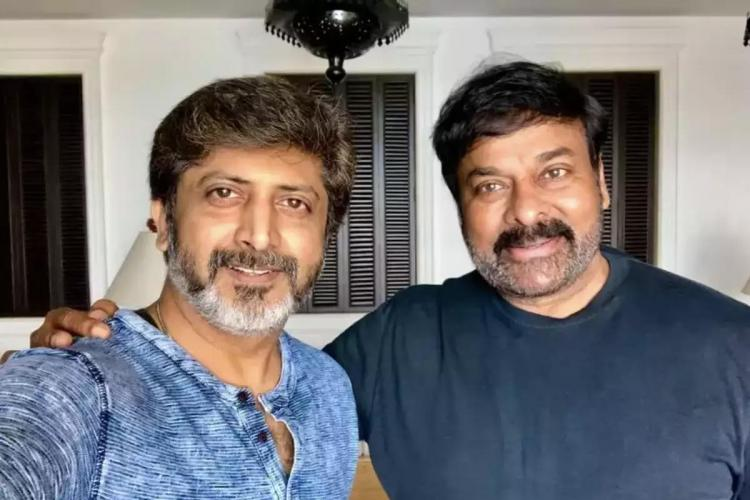 Chiranjeevi and Mohan Raja selfie