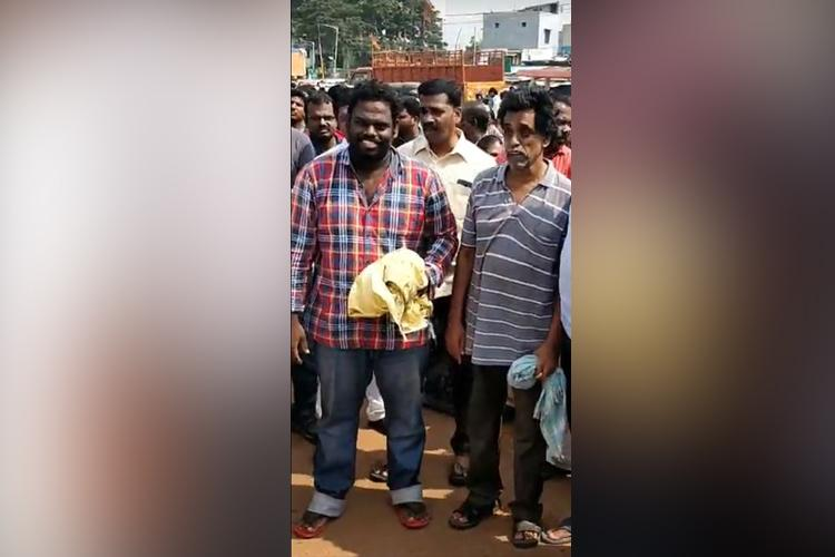 Chennai residents held for questioning civic official get bail given heros welcome