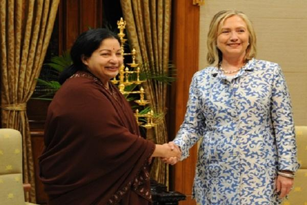 Full text Read TN CM Jayalalithaas letter to Democratic Presidential candidate Hillary Clinton