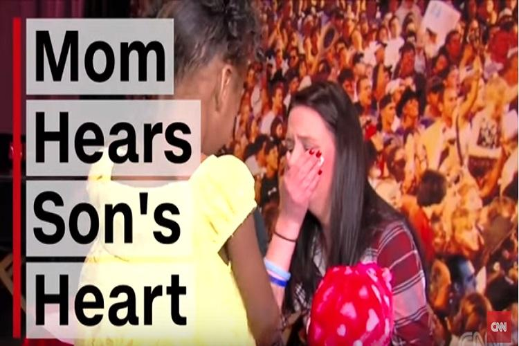 Touching video of a mother hearing her deceased sons heartbeat in a four-year-old