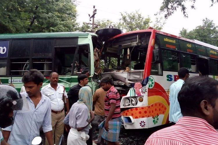 Speed spells disaster in Coimbatore as buses collide 5 critical and 39 injured in total