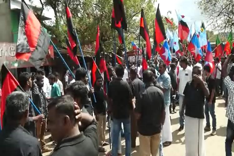 TN politicians up in arms against Keralas check dams on river Bhavani hold all party protest