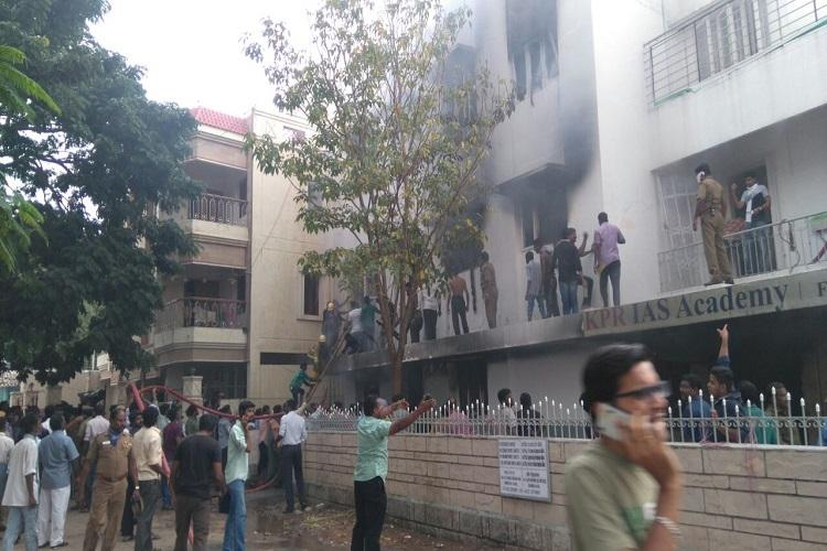 One dead and 5 injured in a fire accident in Coimbatore