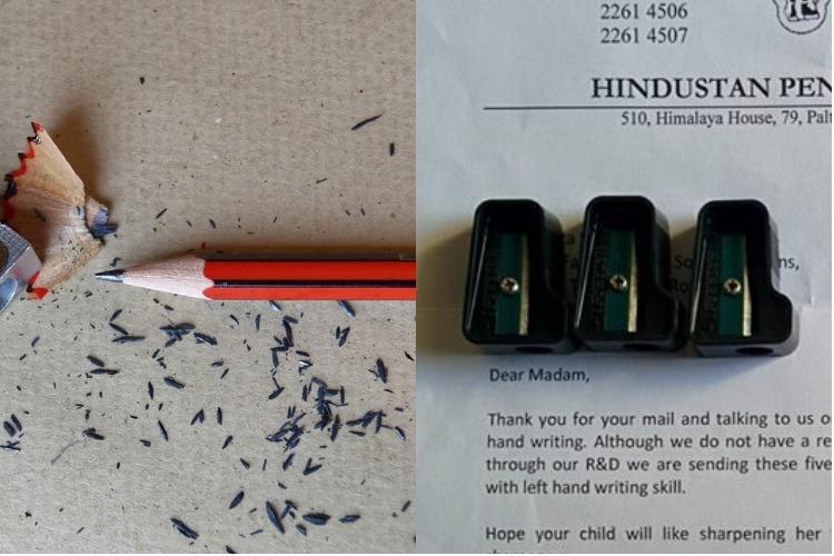 Stationery manufacturer gives left-handed kid a sweet surprise