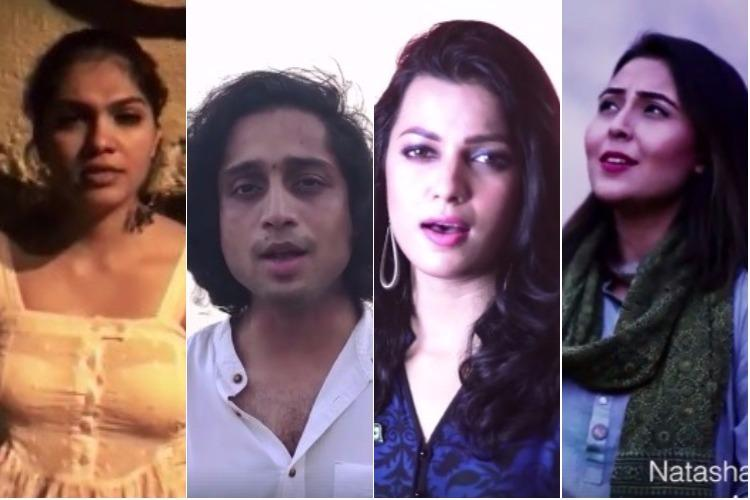Indian and Pakistani artists singing national anthems of both countries is winning hearts