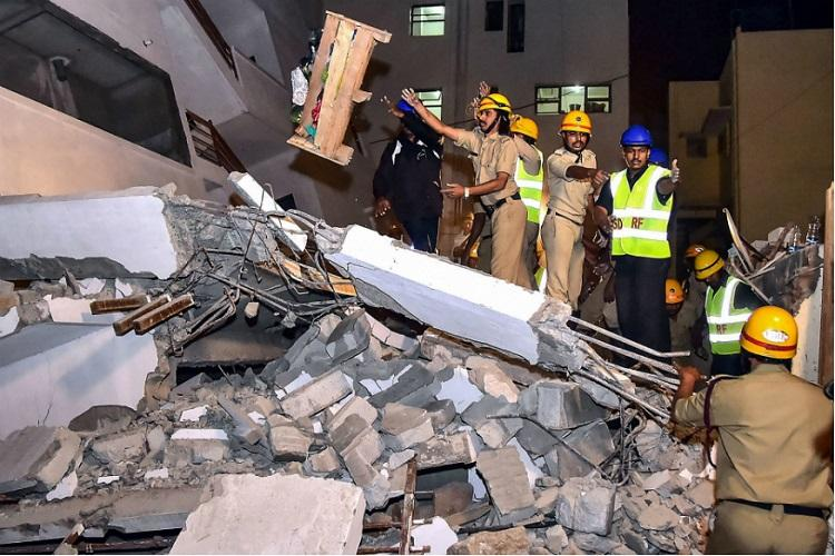 Under construction building collapses in Bengaluru one killed