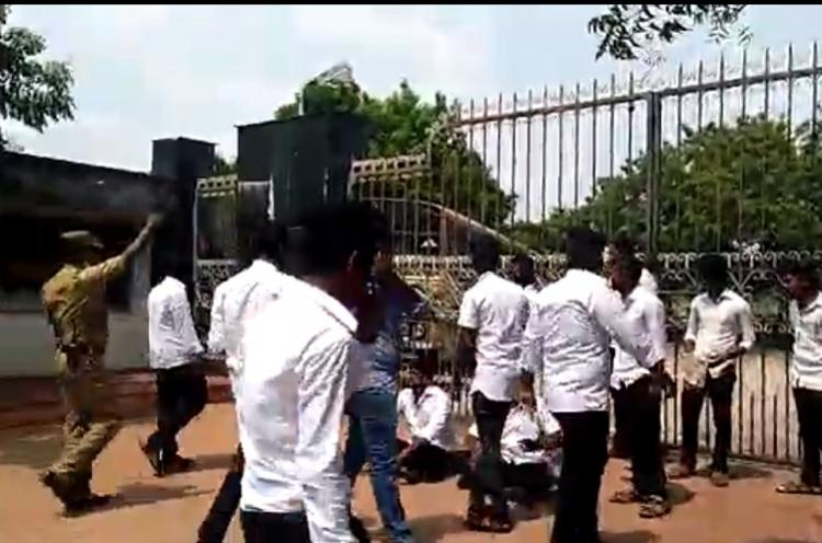 Puducherry law students lock Kiran Bedi in campus demand to be heard