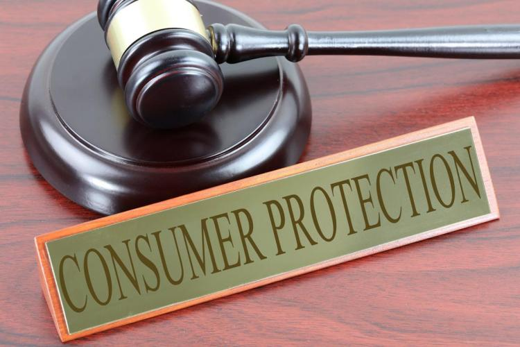 Consumer Protection represented by a gavel