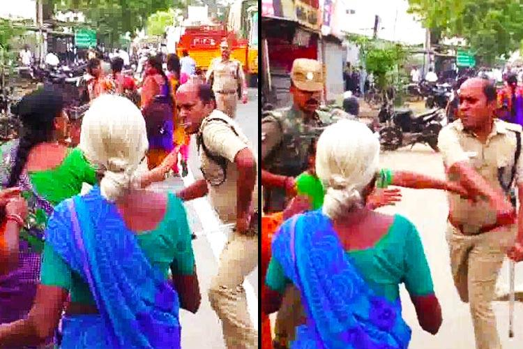 Woman who was slapped by cop in Tiruppur speaks out Protest wont end till hes dismissed