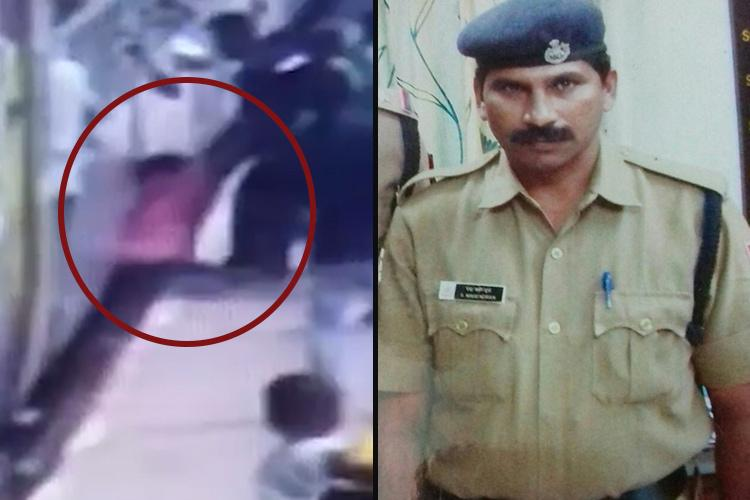 Watch Quick thinking of railway cop saves mans life at Chennai Central station