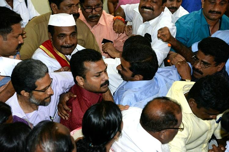 Thiruvananthapuram Mayor injured as clash breaks out between CPIM BJP councillors