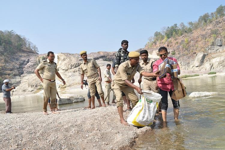 Telanganas highest waterfall regains natural beauty thanks to Adilabad police