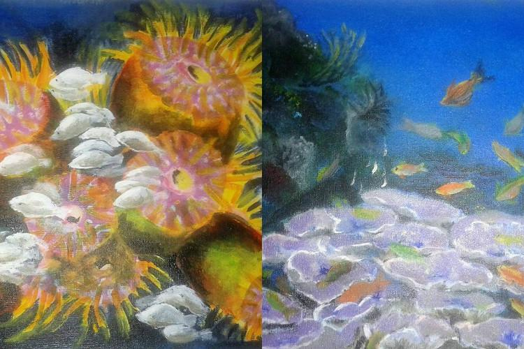 Deep dive for environment Meet the TN woman who paints corals to help save them
