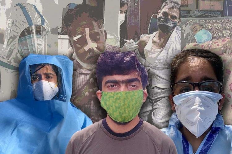 Collage of TNM reporters on the ground covering the pandemic
