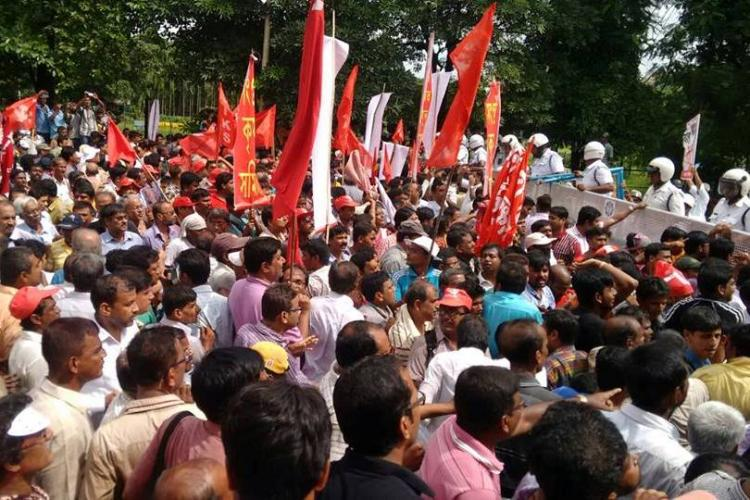 Left farmers rally turns violent many injured