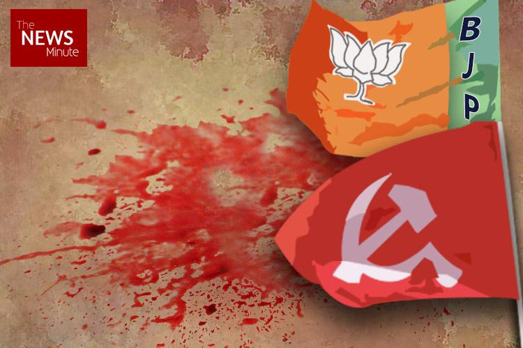 Day after attack on city Mayor CPI M office stoned in Thiruvananthapuram