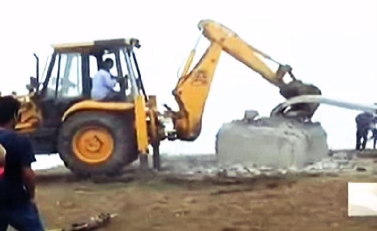 Massive Christian cross erected on encroached land in Munnar razed down by govt
