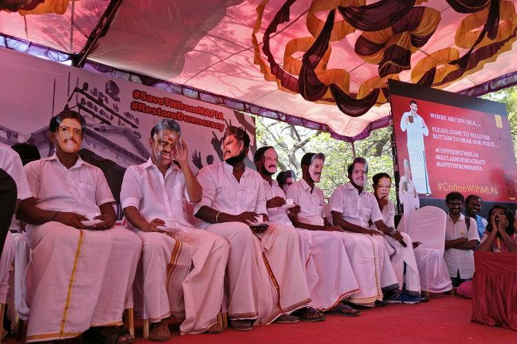 Hundreds turn up for coffee with MLAs in Chennai but no legislators in sight